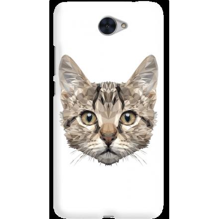 Etui na telefon Huawei Y7 Kot Geometryczny