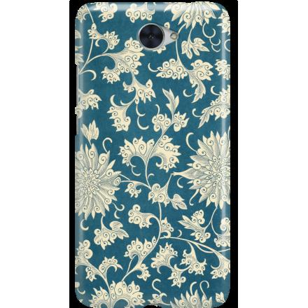 Etui na telefon Huawei Y7 Kwiaty Ornamenty