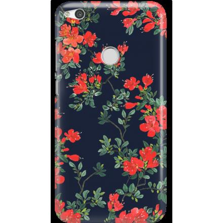 Etui na telefon Huawei P9 Lite 2017 Czerwone Kwiaty