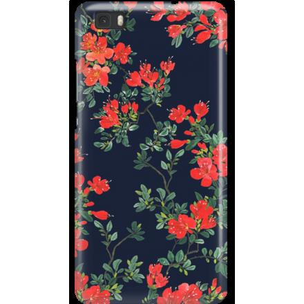Etui na telefon Huawei P8 Lite Czerwone Kwiaty