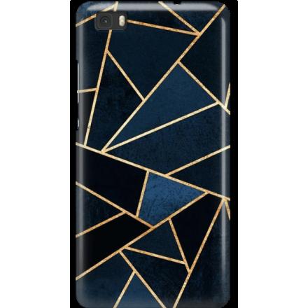 Etui na telefon Huawei P8 Lite Geometyczne Indygo