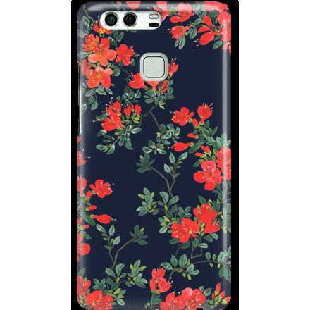 Etui na telefon Huawei P9 Czerwone Kwiaty