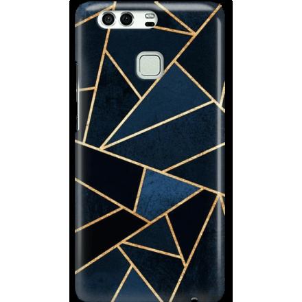 Etui na telefon Huawei P9 Geometyczne Indygo