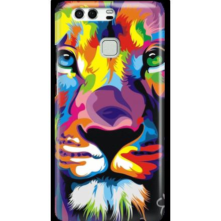 Etui na telefon Huawei P9 Kolorowy Lew
