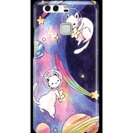 Etui na telefon Huawei P9 Kosmiczne Koty