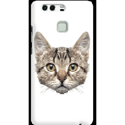 Etui na telefon Huawei P9 Kot Geometryczny