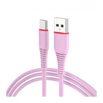 KABEL USB MICRO USB [szybkie ładowanie]QUICK CHARGE RÓŻOWY