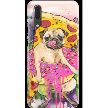 Etui na telefon Huawei P20 Głodny Mops