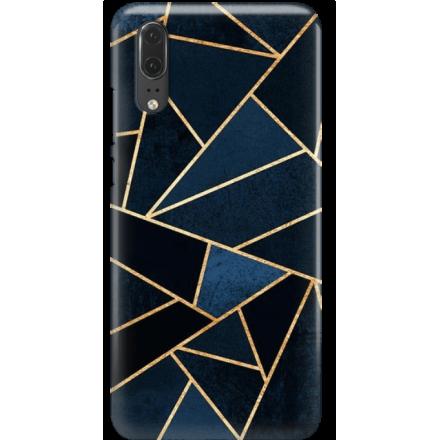 Etui na telefon Huawei P20 Geometyczne Indygo