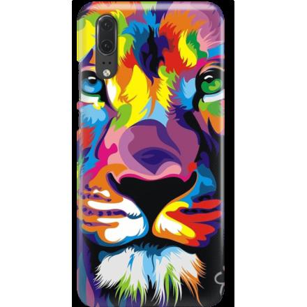 Etui na telefon Huawei P20 Kolorowy Lew
