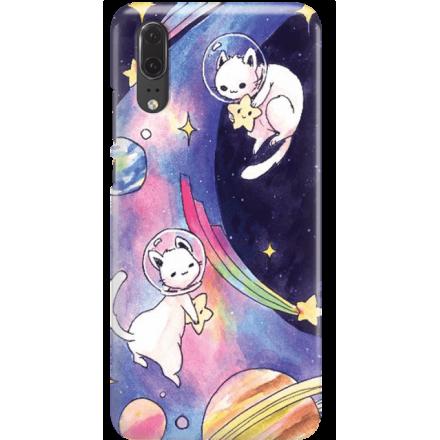 Etui na telefon Huawei P20 Kosmiczne Koty