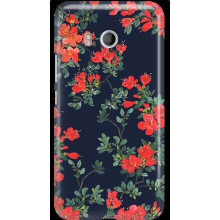 Etui na telefon HTC U11 Czerwone Kwiaty