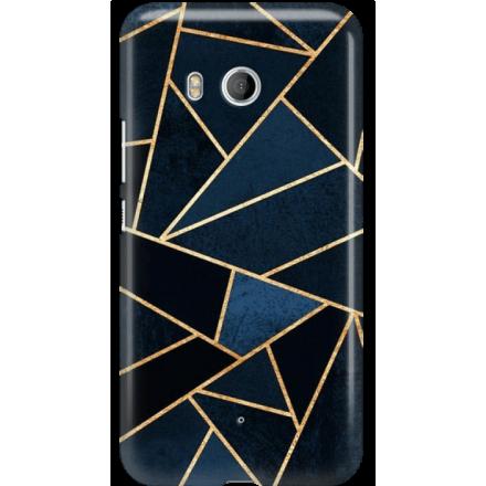 Etui na telefon HTC U11 Geometyczne Indygo