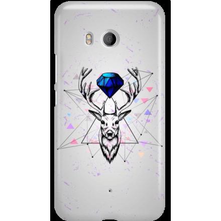 Etui na telefon HTC U11 Jeleń Geometryczny