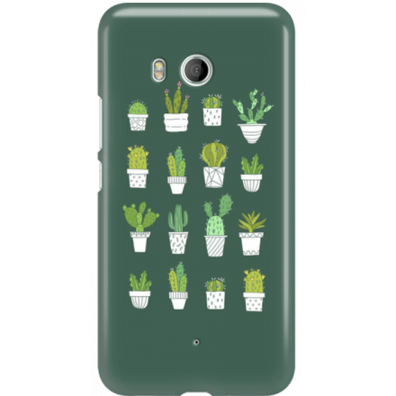 Etui na telefon HTC U11 Kaktusy