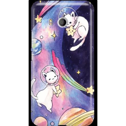 Etui na telefon HTC U11 Kosmiczne Koty