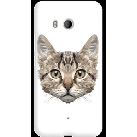 Etui na telefon HTC U11 Kot Geometryczny