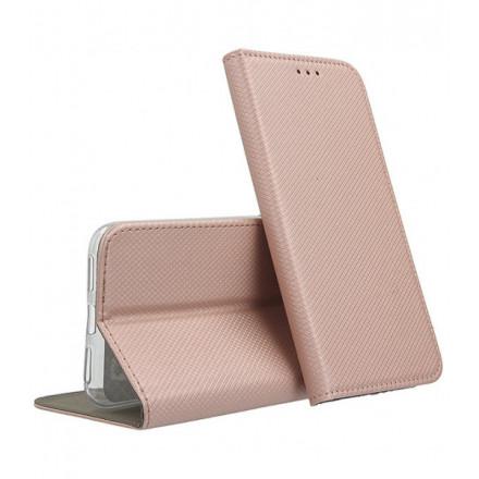 ETUI BOOK MAGNET NA TELEFON SAMSUNG GALAXY A12 / M12 / F12 ROSE GOLD