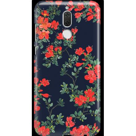 Etui na telefon Huawei Mate 10 Lite Czerwone Kwiaty