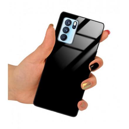 ETUI BLACK CASE GLASS NA TELEFON OPPO RENO 6 PRO CZARNY