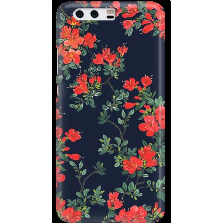 Etui na telefon Huawei P10 Czerwone Kwiaty