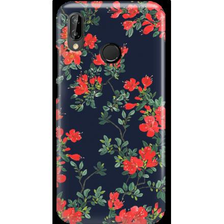 Etui na telefon Huawei P20 Lite Czerwone Kwiaty