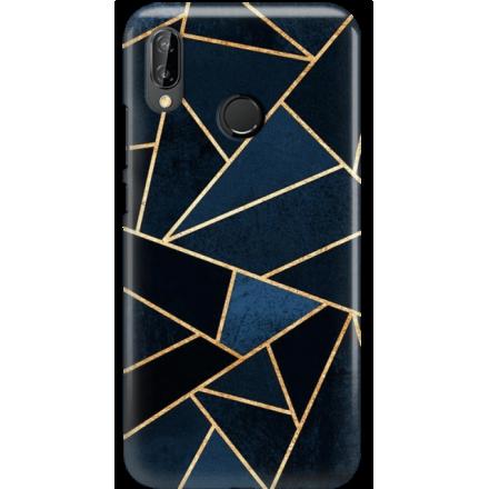 Etui na telefon Huawei P20 Lite Geometyczne Indygo