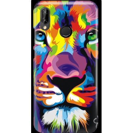 Etui na telefon Huawei P20 Lite Kolorowy Lew