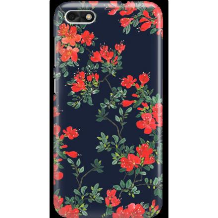 Etui na telefon Huawei P9 Lite Mini Czerwone Kwiaty